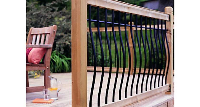 Wickes Tuscany Deck Railing Kit Black