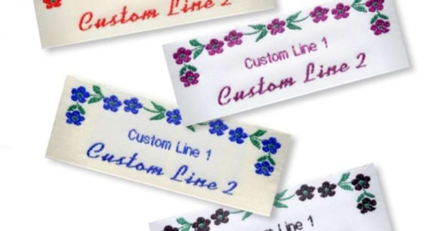 Wide Craft Labels Flowers Name Tapes
