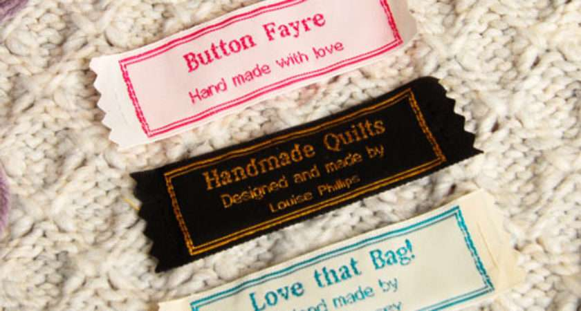Wide Craft Labels Light Border Name Tapes