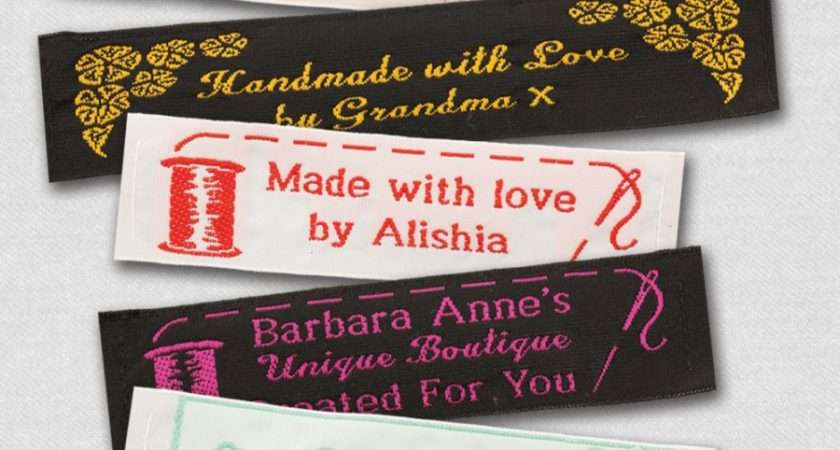 Wide Woven Labels