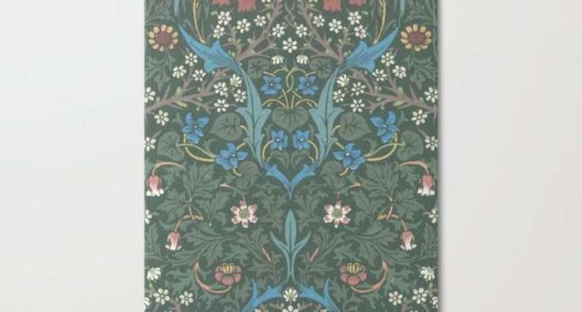 William Morris Blackthorn Block Print Pattern