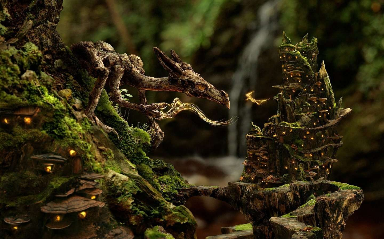 Windows Fantasy Wood Dragon