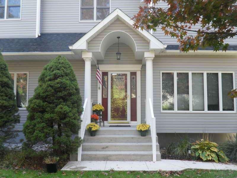 Windows Front Entrance Design Gray Wall Ideas