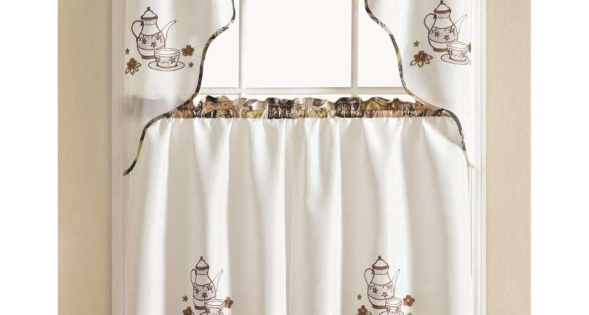 Winston Porter Werner Coffee Piece Kitchen Curtain Set