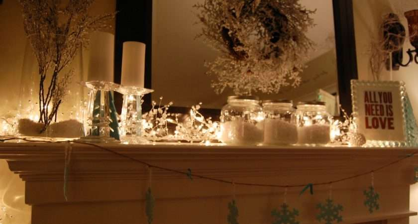 Winter Mantel Pop Pretty Blog Canadian Home Decorating