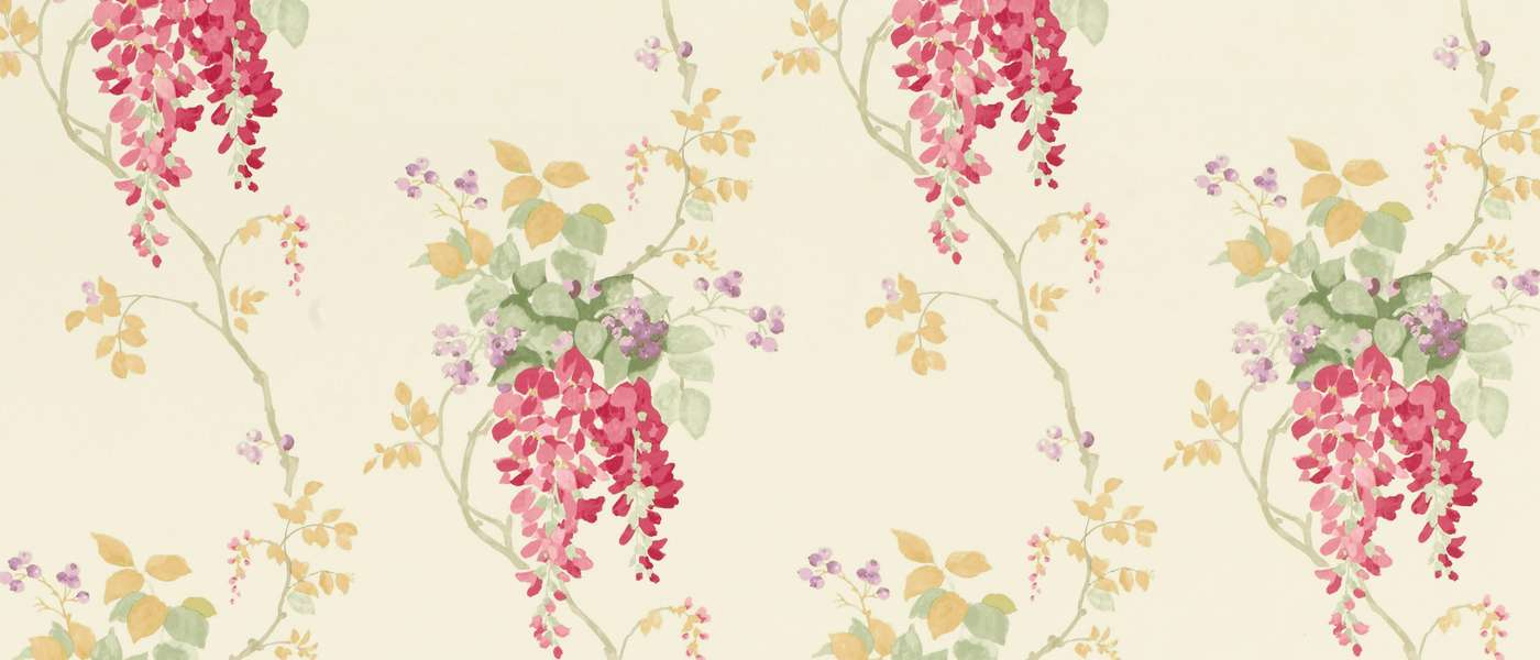 Wisteria Cranberry Floral Laura Ashley