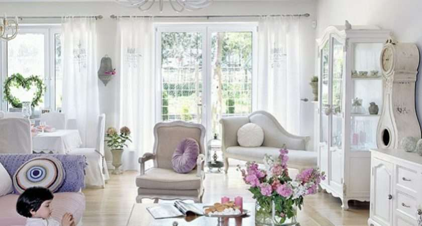 Wohnzimmereinrichtung Shabby Chic Stil Beispiele
