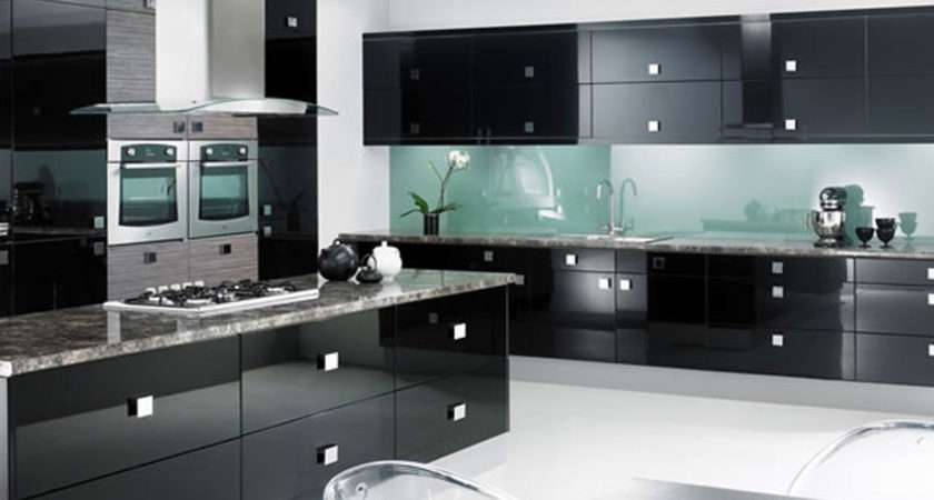 Wonderful Black Kitchen Cabinets