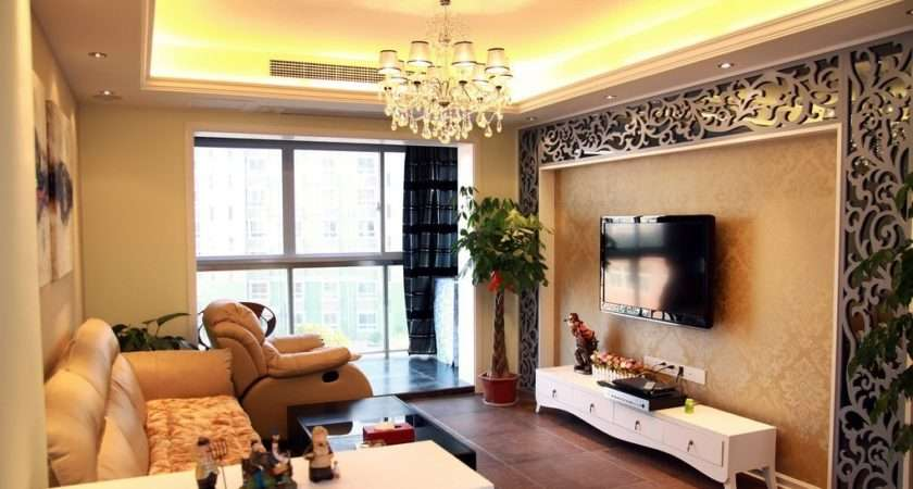 Wonderful Living Room Wall Design Interior