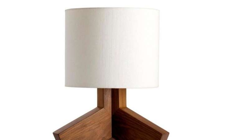 Wood Cabinets Small Table Lamps Warm Fur Rug Floor Plaid
