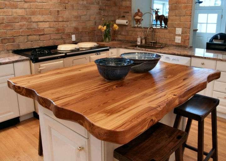 Wood Countertops Butcher Block Kitchen Island Counter