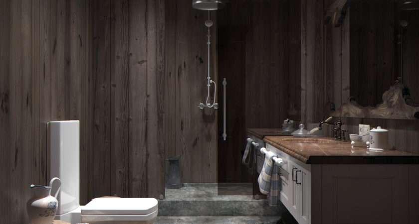 Wood Panel Bathroom Interior Design Ideas