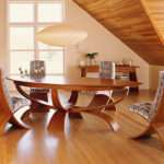 Wood Unique Dining Room Tables Round Modern