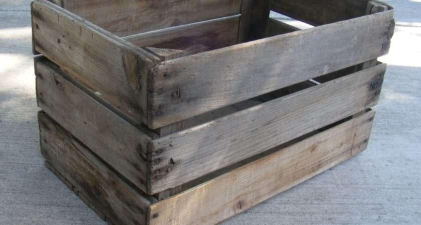 Wooden Apple Crate Vintage Fruit Box