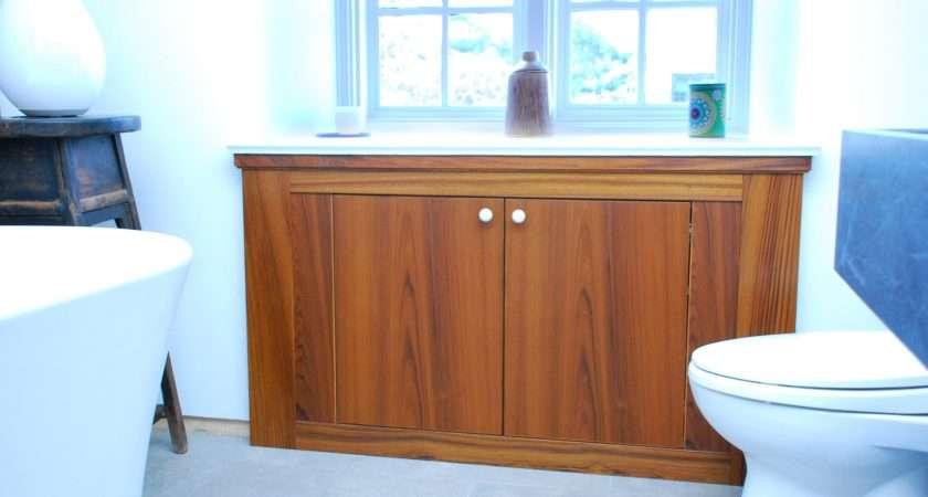 Wooden Bathroom Storage Cabinet
