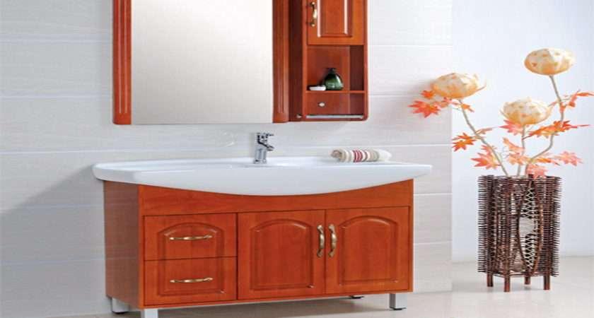 Wooden Bathroom Storage Home Interior Design