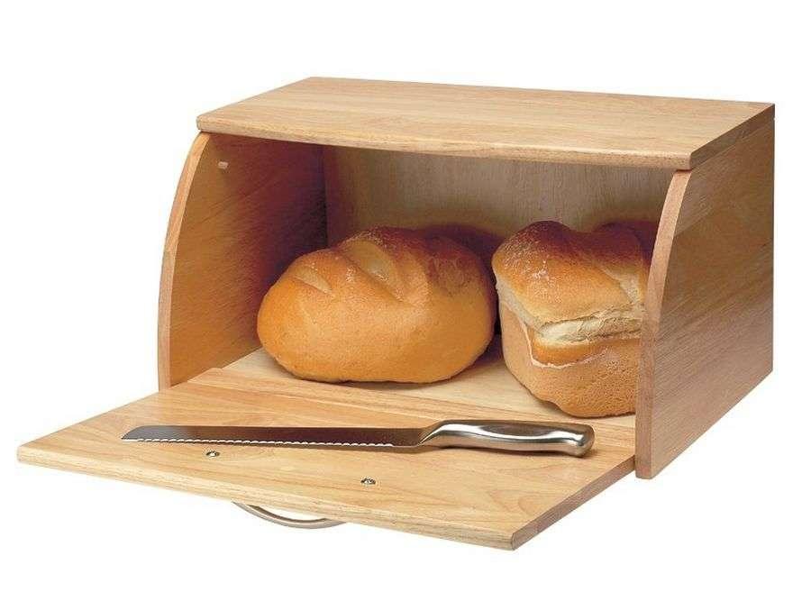 Wooden Bread Bins Artisanti Scimitar Bin