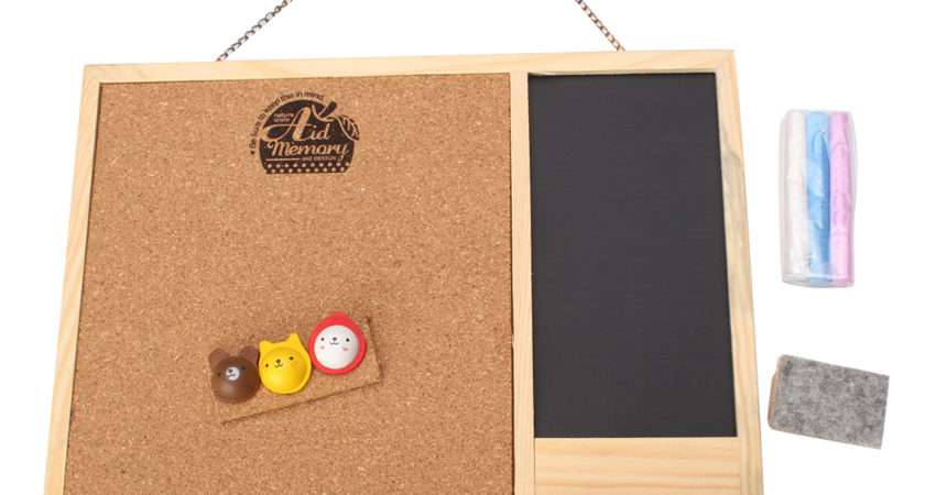 Wooden Framed Cork Pin Notice Memo Board