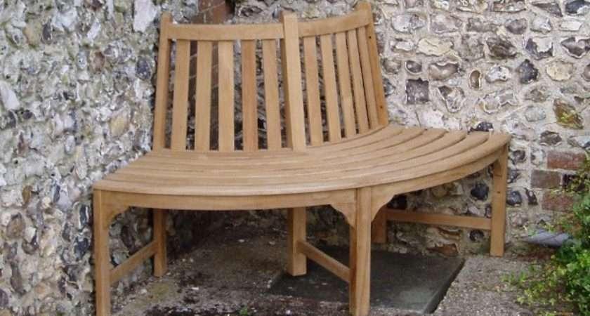 Wooden Garden Corner Seat