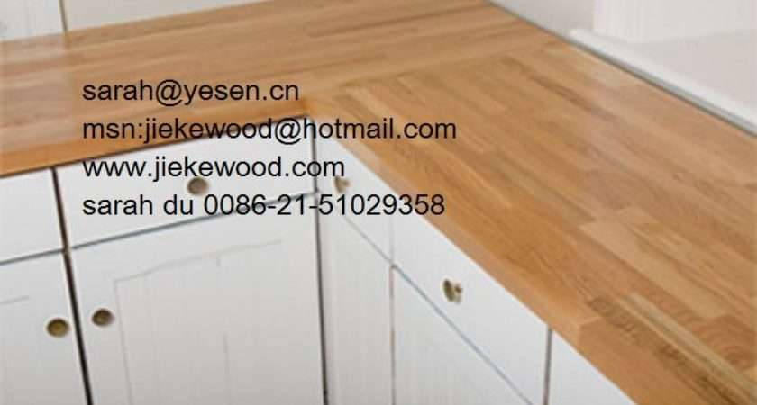 Wooden Kitchen Worktops Solid Wood Finger Joint Panel Edge
