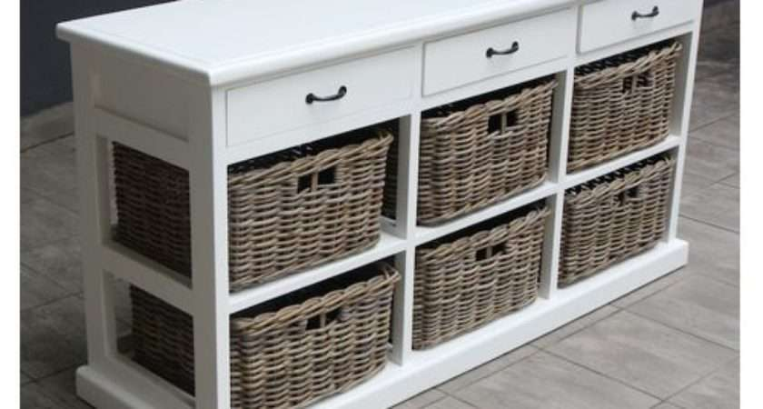 Wooden Shelves Baskets Paris Wood Wicker