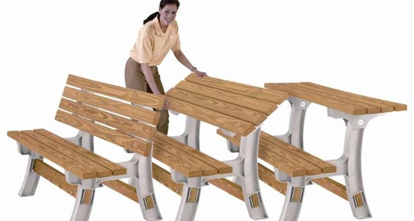 Wooden Table Bench Flip Top Anysize