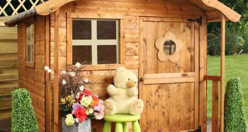 Wooden Wendy Playhouse Kids Wood Play House Den
