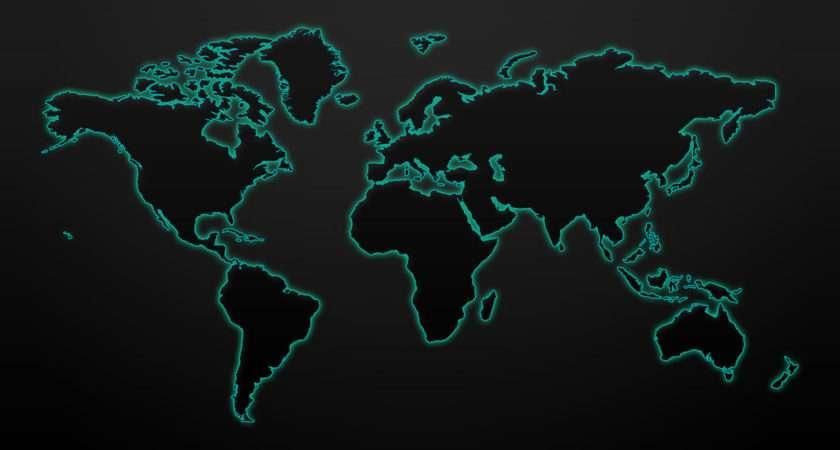 World Map Grasscloth