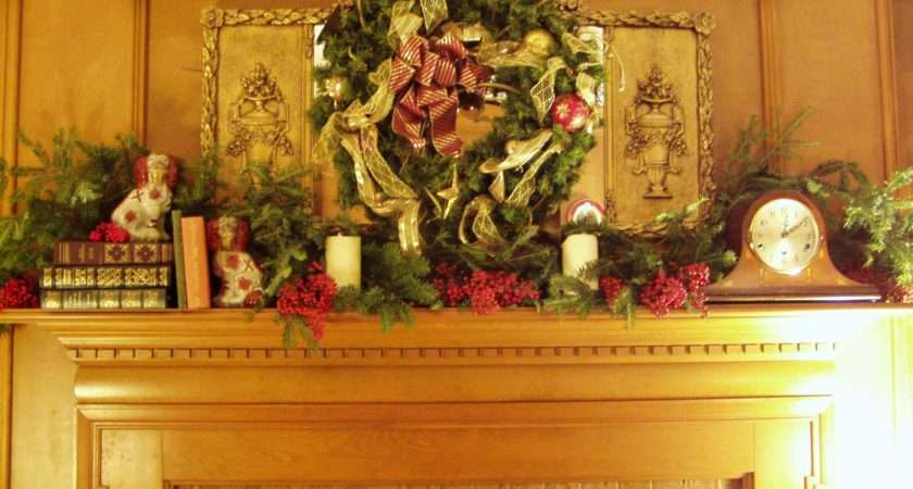 Wreath Over Mirror One Hangs Above Fireplace