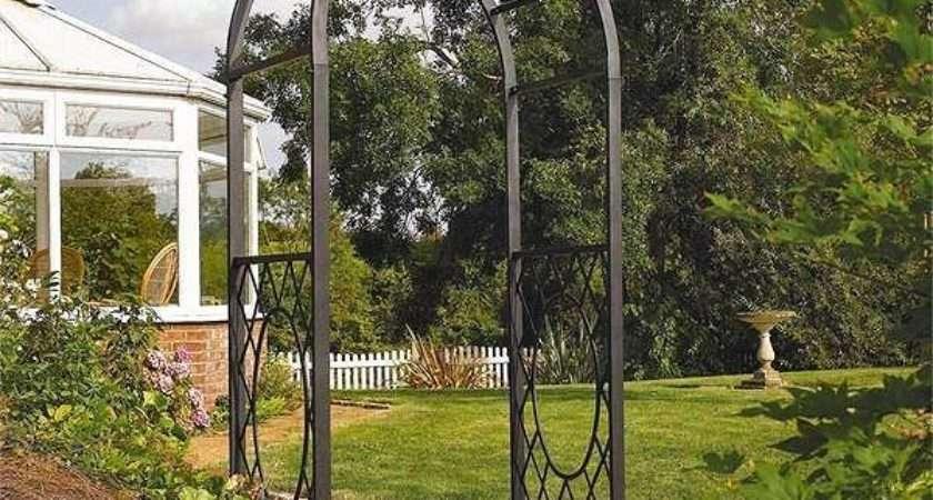 Wrenbury Round Top Metal Garden Arch Decorative