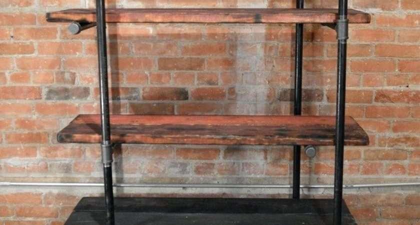 Wrought Iron Shelves Country Kitchen Study Vintage