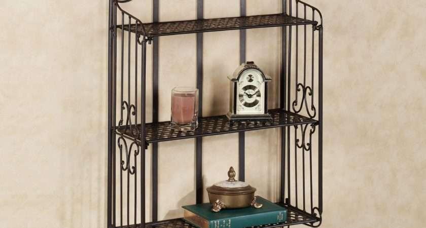 Wrought Iron Wall Shelf Unit
