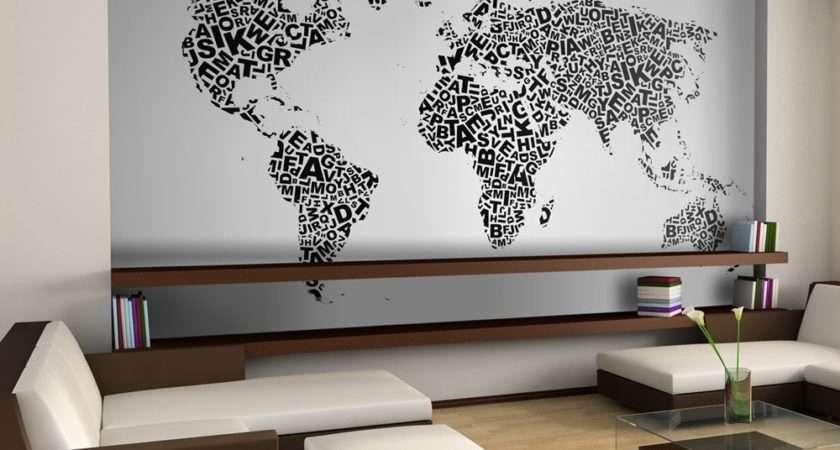 Xxl Map Thoughts Murals