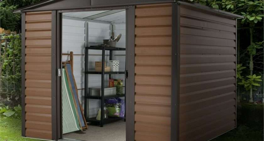 Yardmaster Woodgrain Metal Shed Homebase