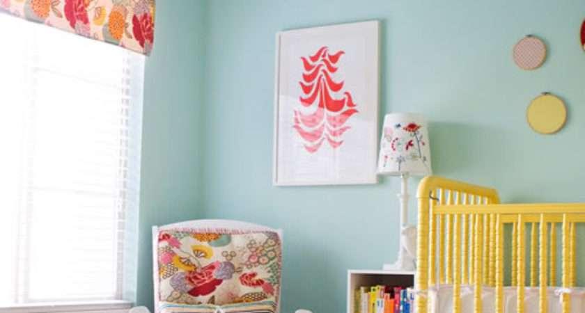 Yellow Aqua Red Baby Nursery Design Dazzle