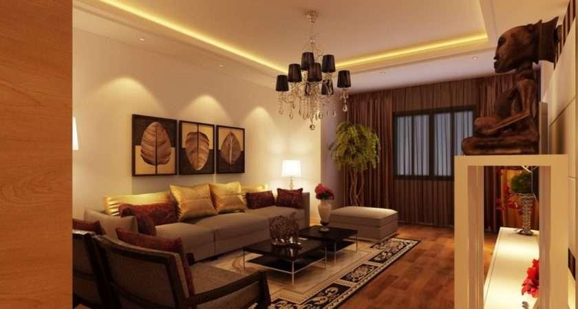 Yellow Brown Living Room