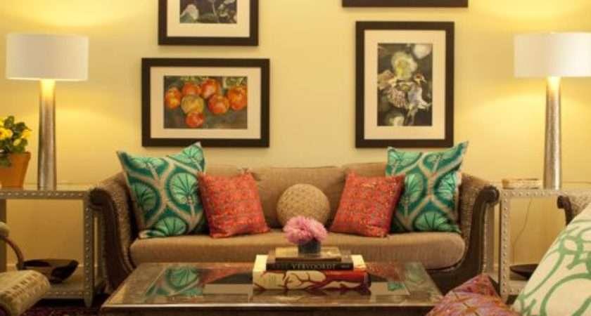 Yellow Brown Sofa Home Design Ideas Remodel