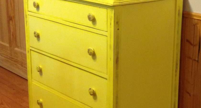 Yellow Farmhouse Dresser Buffet Sideboard Painted Distressed
