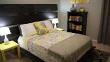 Yellow Gray Bedroom Living Small