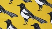 Yellow Magpie Fabric Upholstery Curtain