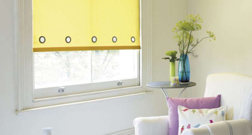 Yellow Roller Shade Awnings Pergolas Window Shades