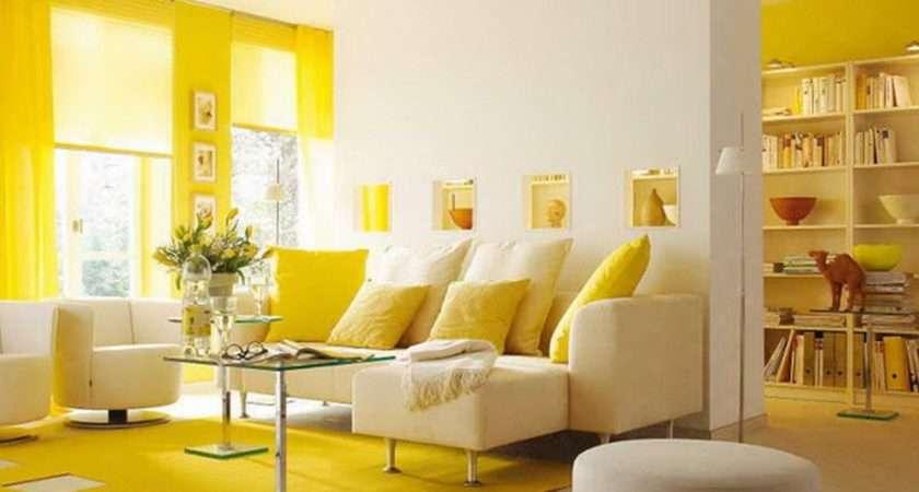 Yellow Themed Living Room Design Inspiration