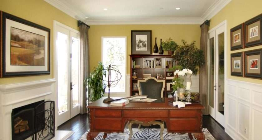 Yellow Traditional Home Office Photos Hgtv