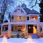 Yellow Victorian Outdoor Lights Photos