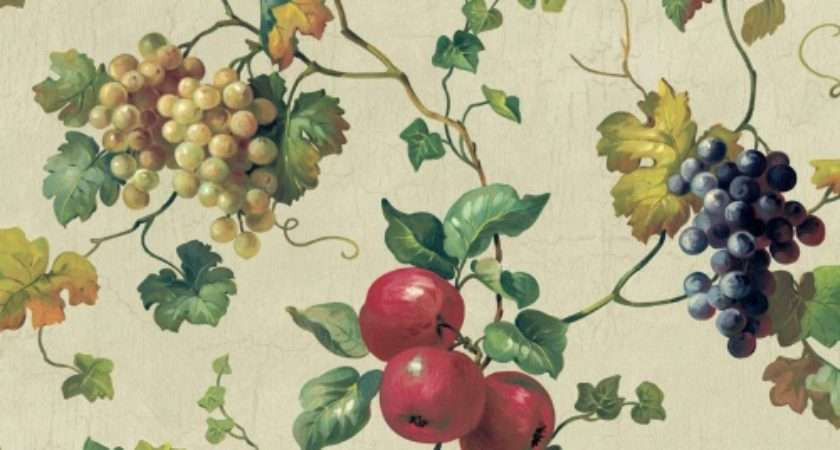 York Wallcoverings Kitchen Bath Fruit Ivy