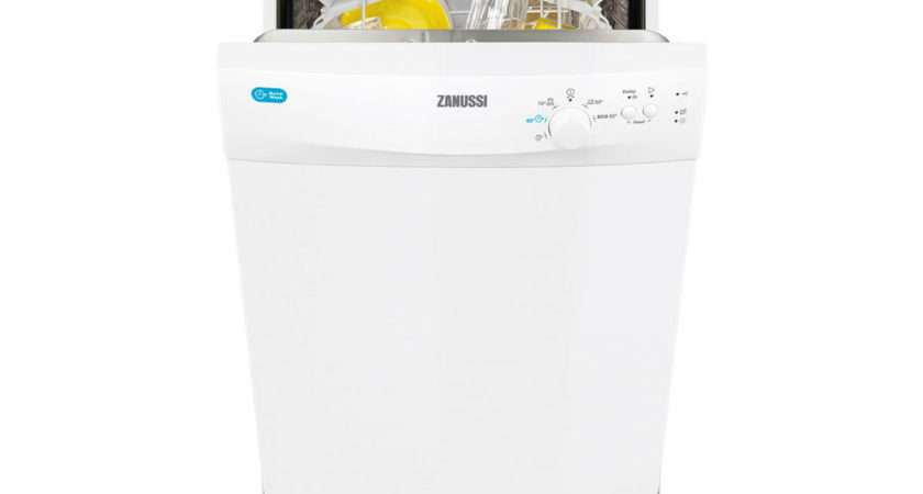 Zanussi Zds Freestanding Slimline Dishwasher White